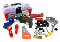 Набор инструментов для мальчиков  2059 в чемодане,   33 детали