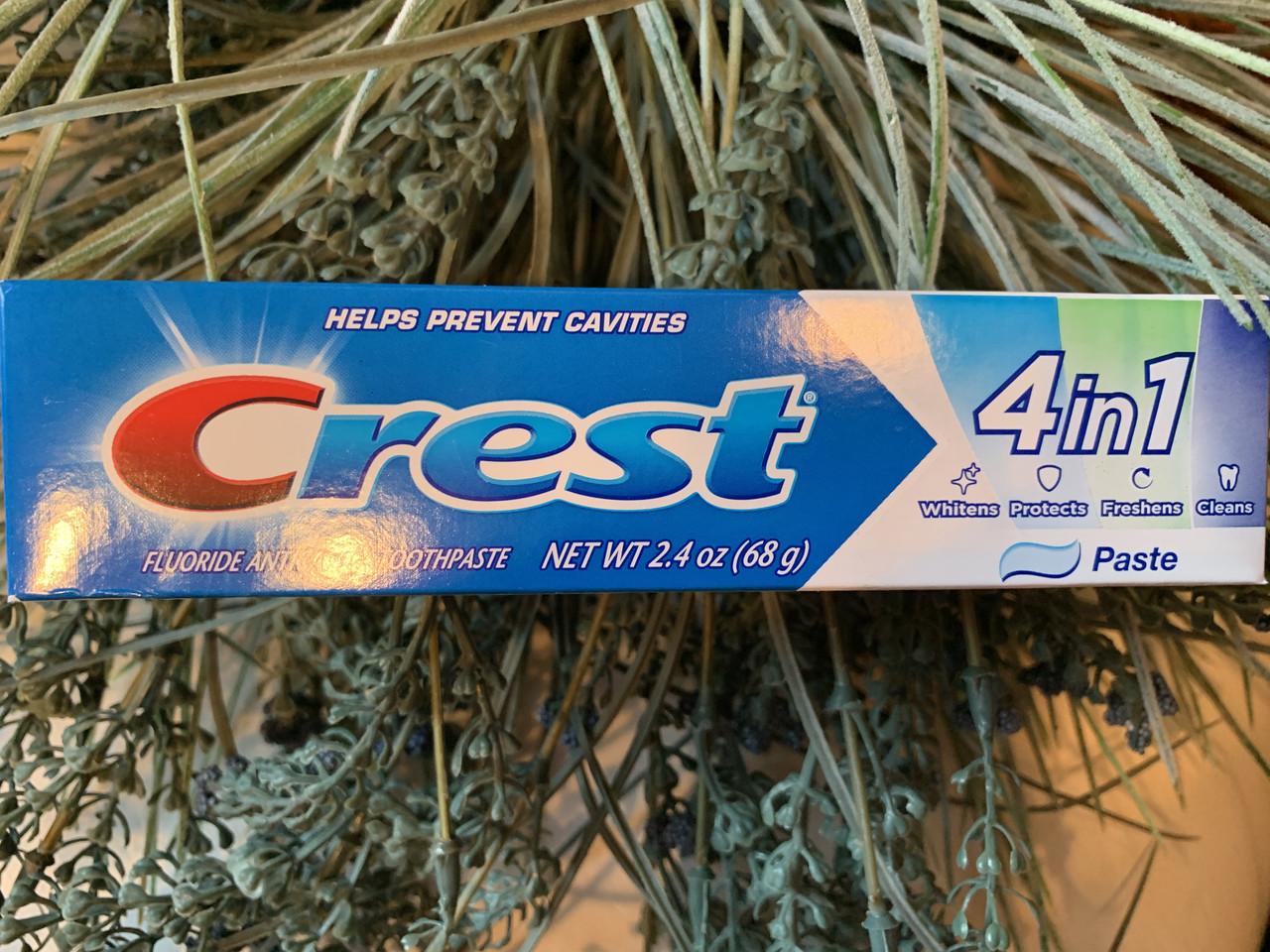 Комплексная зубная паста от кариеса Crest 4 in 1 toothpaste