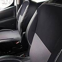 Автомобільні чохли в салон SKODA FABIA III 2014 - цілісна задня спинка; 4 підголівників; airbag (N