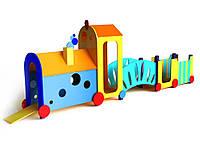 Дитячий спортивно-ігровий Комплекс Паровоз для ігор на відкритих майданчиках у дворі або дитсадках 780х110х230 см