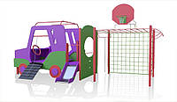 Ігровий розвиваючий Елемент Спорт Джипик для дитячої площадки зі сходами, гіркою і баскетбольним кільцем