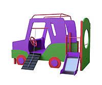 Дитячий ігровий розвиваючий Елемент Джипик з сходами, гіркою для відкритих майданчиків біля будинку, дитсадків, шкіл