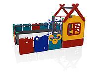 Дитячий ігровий розвиваючий функціональний Елемент Play home для відкритих майданчиків біля будинку, дитячих садів