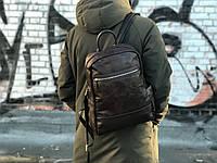 Кожаный рюкзак David Jones (натуральная кожа) коричневый