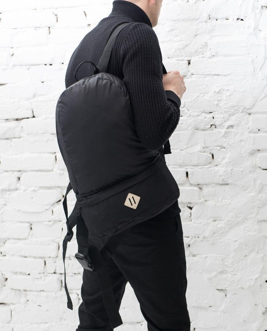 """Классный молодежный рюкзак-трансформер """"Transformer"""" темно-серый с черным"""