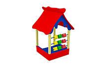 Детский игровой Домик Веранда с кубиками для игр на открытых площадках во дворе, детском саду 150х150х204 см