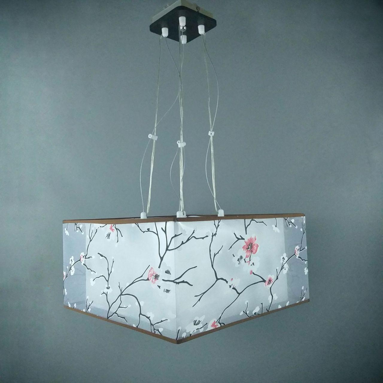 Люстра подвесная на 4 лампы 1-A021L/4P BK+WT