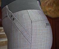 LEX №15 Брюки женские в клетку на резинке батал 48-60 серые/ серого цвета/ серый