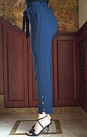 LEX №92 Брюки женские летние с поясом на резинке 46-58 темно-синие/ темно-синего цвета/ темно-синий