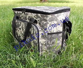 Термосумка 34л + Аккумулятор Сумка холодильник для пива воды 26х34х39см Термосумка для пикника Хаки 353, фото 2