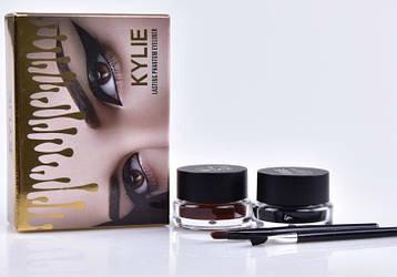 Набор гелевых подводок для глаз Kylie long wear gel eyeliner 2 in 1 (A1015)
