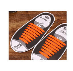Шнурки силиконовые Good-Bye Tie Оранжевые (060412)
