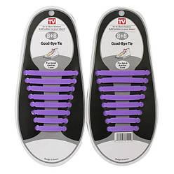 Шнурки силиконовые Good-Bye Tie Фиолетовые (060414)