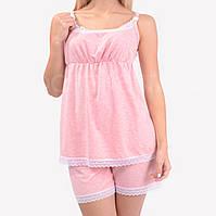 Пижама шорты и майка для кормления