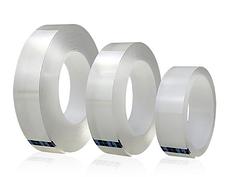 Многоразовая клейкая лента, крепежная лента. Клейкая нано-лента многоразовая Белая 3м*30мм, фото 3