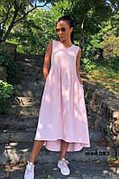 Платье летнее льняное,длинное летнее платье