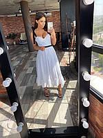 Женское летнее платье белое, фото 1