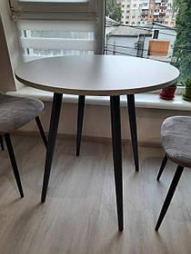 Стол обеденный Modern lite-4L H18, ножки Антрацит столешница Серая D70 (Новый стиль ТМ)
