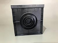 Дождеприемник PolyMax Basic 30/30 см пластиковый черный комплект