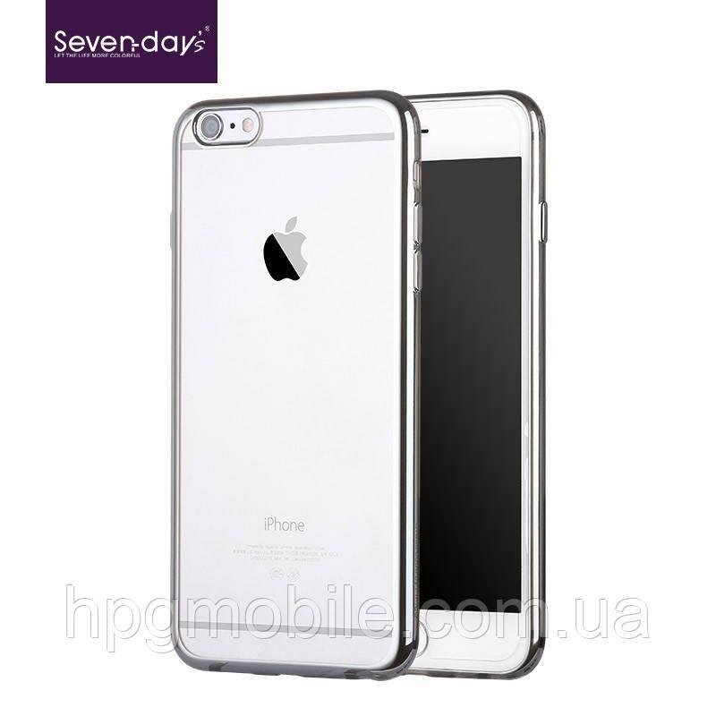 Чехол для iPhone 6, iPhone 6S - Seven-days plating series Серебристый