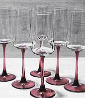 Набір Келихів Для Шампанського Luminarc Contrasto Lilac 200 мл*6 шт P9604