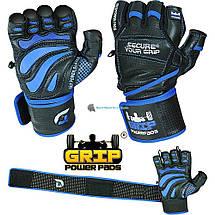 Кожаные перчатки для фитнеса GRIP POWER PADS GPP-100Y, фото 2