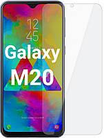Защитное стекло для Samsung Galaxy М20 М205 прозрачное (Самсунг М205)