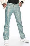 Мужские брюки Franco Benussi 1210-515 лен зеленые, фото 3