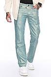 Мужские брюки Franco Benussi 1210-515 лен зеленые, фото 5