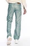 Мужские брюки Franco Benussi 1210-515 лен зеленые, фото 7