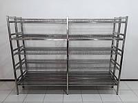 Стеллаж для сушки посуды 2400х640х1800 (сдвоеный)