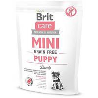 Сухой корм для щенков миниатюрных пород Brit Care Mini Grain Free Puppy гипоаллергенный с лососем 0.4 кг