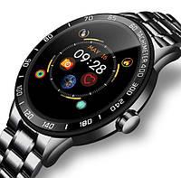 Чоловічий Смарт годинник Smart Lige Omega Black