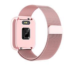 Розумні смарт годинник Lemfo T80 з тонометром і пульсометром (Рожевий), фото 3