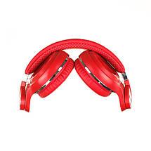 Беспроводные Bluetooth наушники Bluedio T2 Plus со встроенным радио (Красный), фото 3