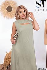Платье женское летнее длинное льняное, фото 3