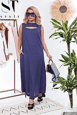 Платье женское летнее длинное льняное, фото 2
