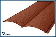 Сайдинг фасадный металлический Блок-Хаус, RAL 8004 Медно-коричневый (матовый).