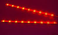 Светодиодные ленты, стоп сигналы дополнительные автомобильные стоп-сигналы две полосы, 25 см