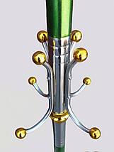 Высота 167 см, диаметр 43 см. Вешалка-стойка напольная зеленого цвета, фото 3