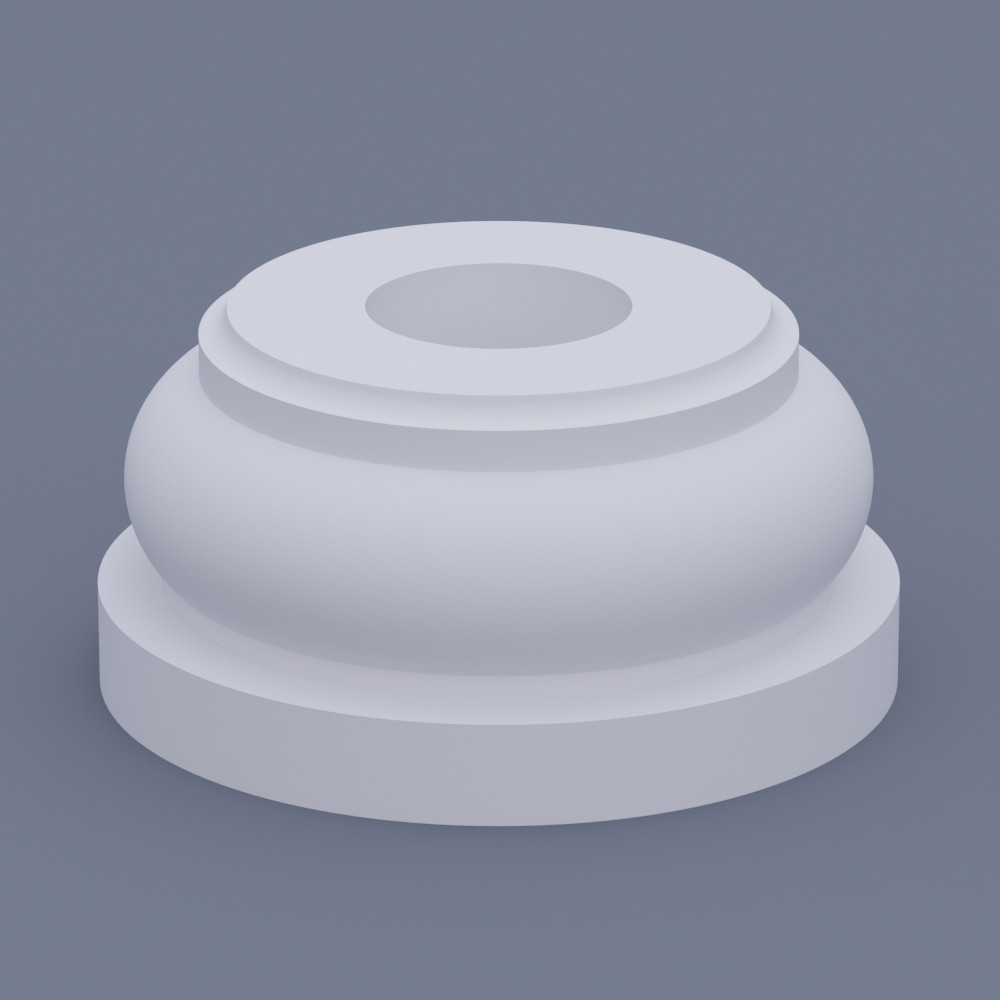 База колонны для фасада, фасадное основание для колонны ФБК 1 h145 (d180)