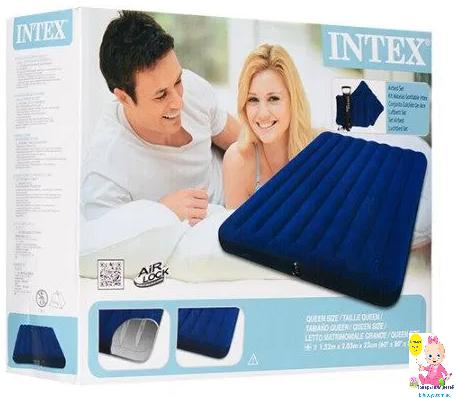 Надувной матрас Интекс 64765,полуторный, набор,152-203-25 см