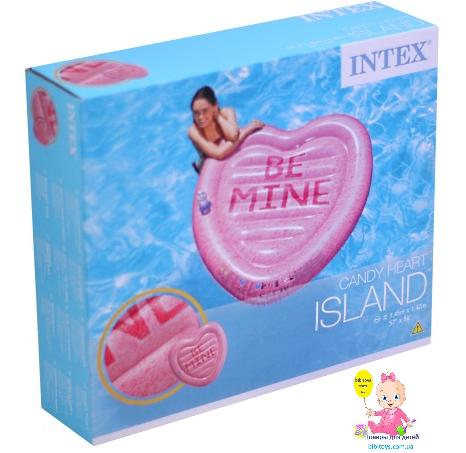 """Надувной плотик Intex 58789 """"Сладкое сердце"""", 145-142 см"""