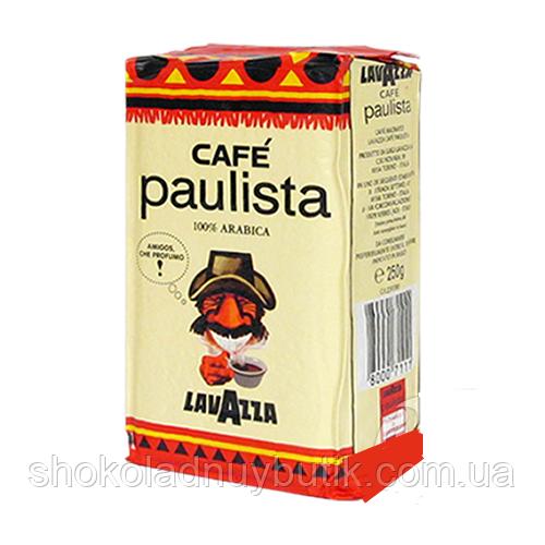 Натуральный итальянский молотый кофе Lavazza Paulista 250г