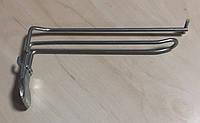 Крючок на перфорацию двойной с ценником, 20 см., цинк, шаг 25 мм, замок