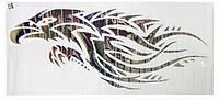 Декоративная наклейка на автомобиль в видедракона под металл, на двери, капот, тюнинг (120 см*50 см)