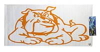 Декоративная наклейка на автомобиль в виде бульдога , на двери, капот, тюнинг Bulldog, собака (120 см*50 см)
