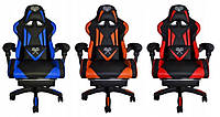 Геймерское кресло комп ютерне крісло Компьютерное кресло спортивное чорно оранжеве