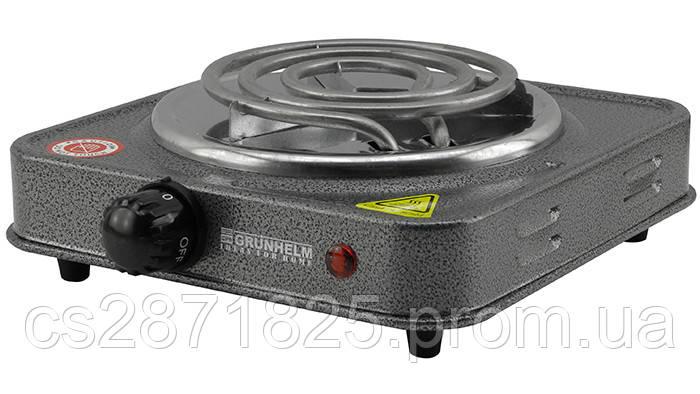 Електроплита Спіральна GRUNHELM GHP-5811 1,0кВт, одинарна, вузький тен