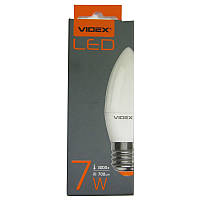 Лампочка  светодиодная Videx  C37e  7W E27 3000K свеча (VL-С37e-07273)